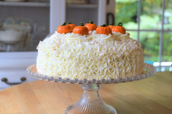 Pumpkin Spice Cake & Cream Cheese Frosting.